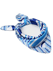 Silk Polyester Striped Scarves