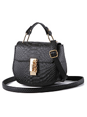 Crocodile Pattern Mini Pu Crossbody Bag