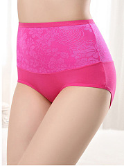 Soft High Rise Shaping Body Tight Fitness Foral Panties