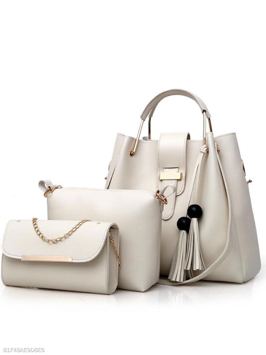 ecbbde19a9a7 New Style Two Pieces Plain Shoulder Bag - fashionMia.com