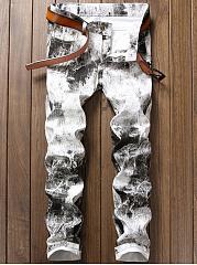 Slim-Leg  Mid-Rise Mens Jeans