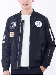 Men-Flap-Pocket-Decorative-Patch-Bomber-Jacket