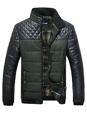 Men-High-Neck-Patchwork-Quilted-Padded-Coat