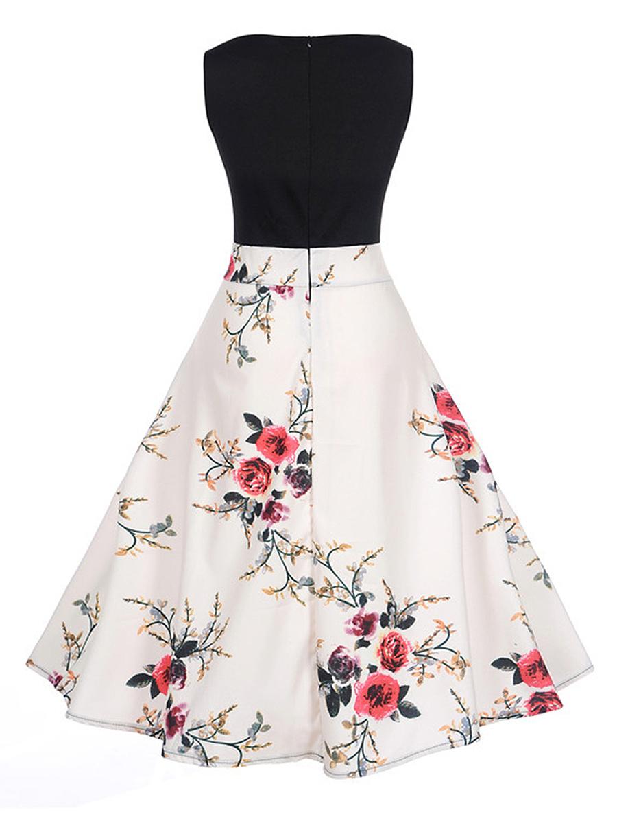 Courtly V-Neck Floral Printed Skater Dress. Courtly ...