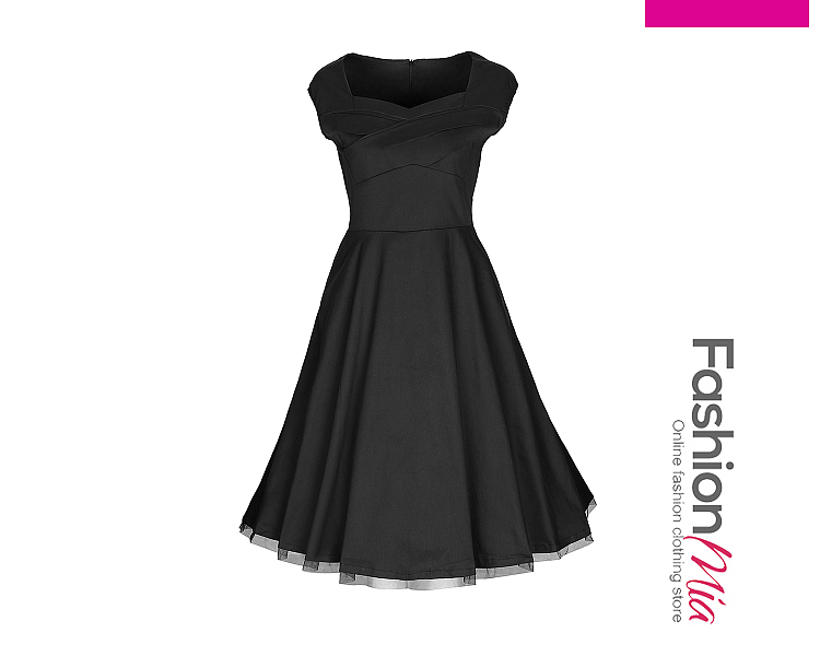 length:knee-length, sleeve:extra short, material:polyester, pattern_type:plain,pleated bodice, occasion:party, dress_silhouette:flared, collar&neckline:sweet heart, season:summer, package_included:dress*1, shoulderbustwaistlength