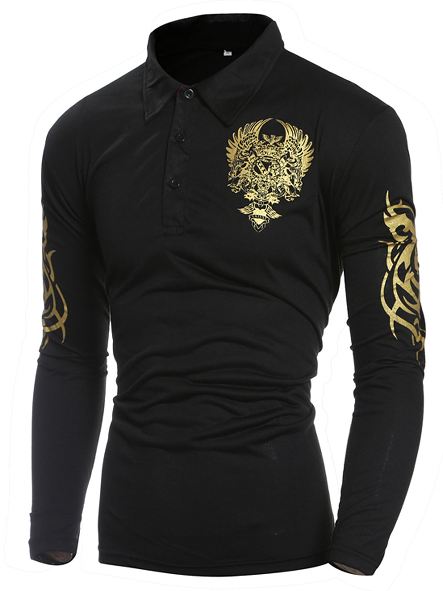 Men Polo Collar Special Printed T-Shirt