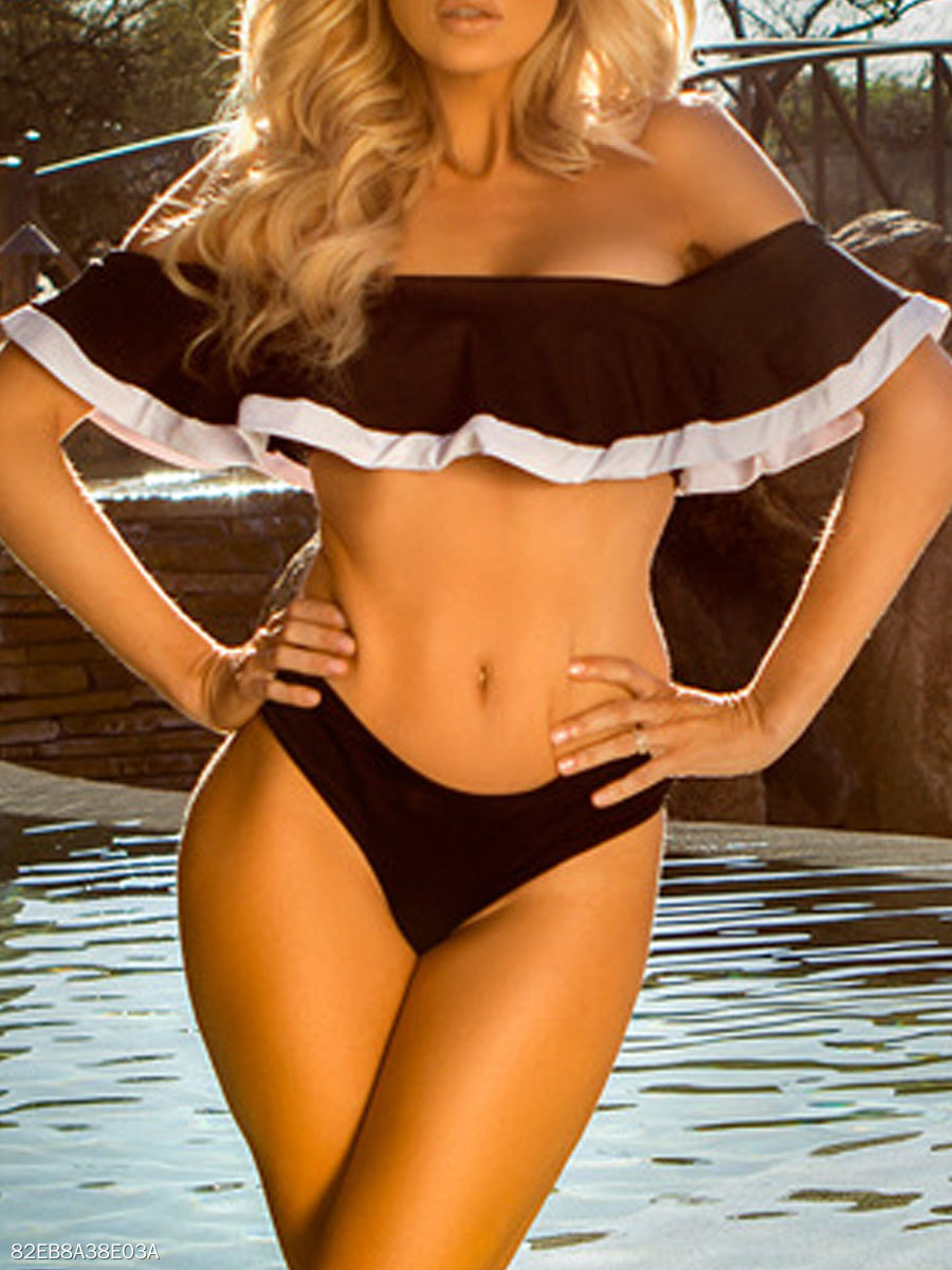 Off Shoulder  Lightweight  Plain  High-Rise Bikini