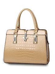 Crocodile-Pattern-Patent-Leather-Shoulder-Bag