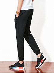 Plain Striped Men's Casual Jogger Pants