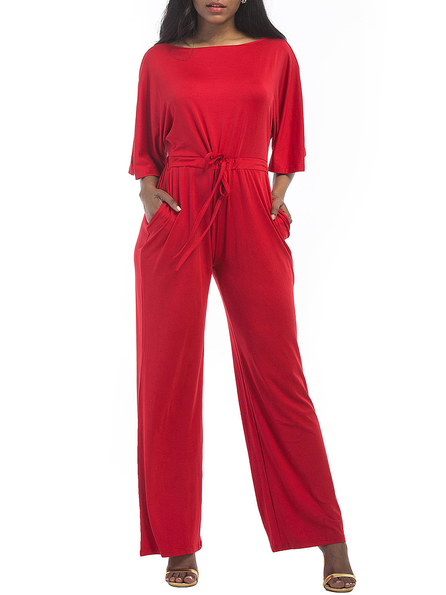 Wide Leg Jumpsuit, red jumpsuit, women's jumpsuit, fashion