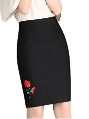 Lightweight  Plain Women Maxi Skirts