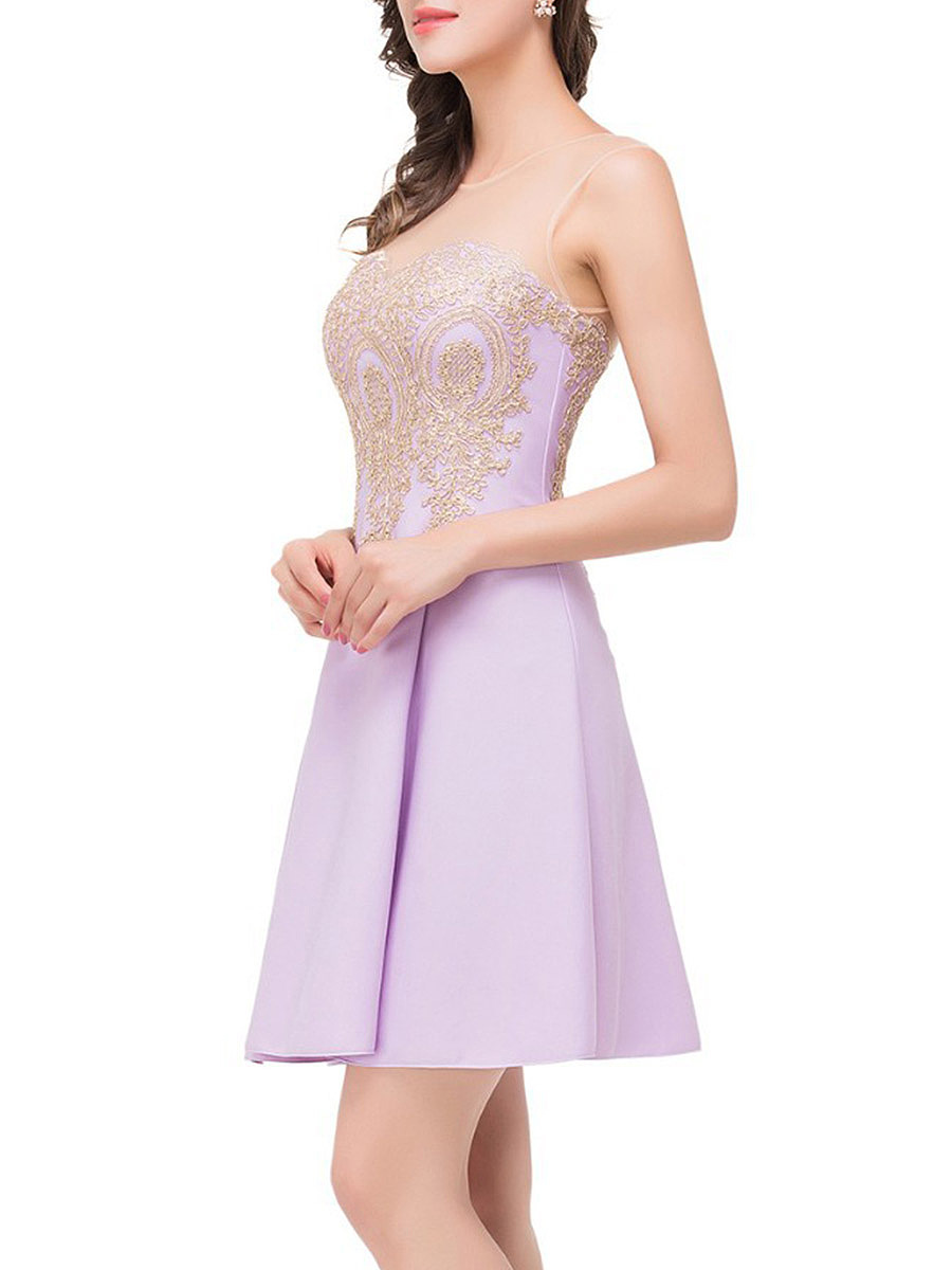 Summer See-Through Embroidery Skater Dress