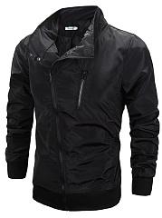High-Neck-Zips-Plain-Men-Jacket