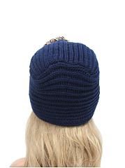 Hot Europe Stylish Beading Decoration Knitted Hats