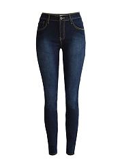 Basic-Light-Wash-Patch-Pocket-Slim-Leg-Mid-Rise-Jean