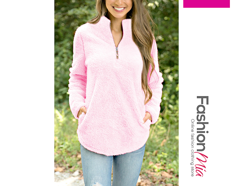 V-Neck Plain Long Sleeve Coats - $18.95 #fashionmia