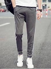 Mens-Striped-Pocket-Slim-Leg-Casual-Pants