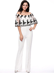 Off-Shoulder-Decorative-Lace-Hollow-Out-Straight-Jumpsuit