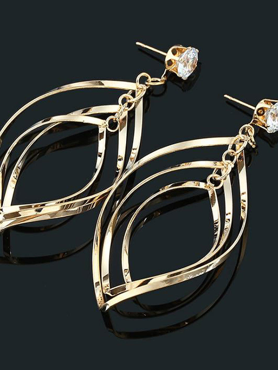 Rhinestone Metal Women Earrings