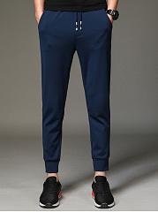 Plain-Elastic-Waist-Pocket-Mens-Casual-Jogger-Pants