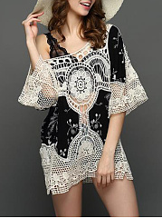 Open-Shoulder-Hollow-Out-Printed-Tunic