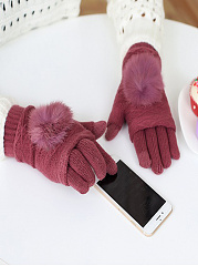 Elegant Soft Thick Woolen Knitted Gloves