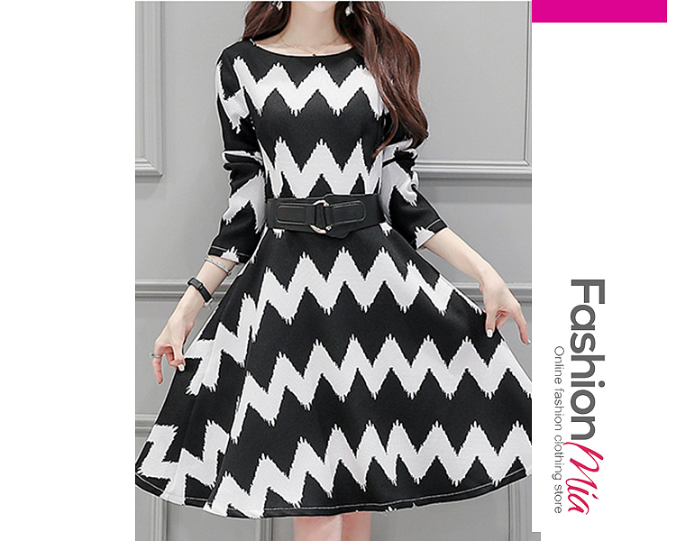 thickness:regular, brand_name:fashionmia, down_content:100%, style:elegant,japan & korear,office outfit, material:polyester, collar&neckline:scoop neck, sleeve:long sleeve, embellishment:ruffled hem, more_details:belt,contrast piping, length:midi, how_to_wash:cold  hand wash, occasion:daily,office, season:autumn,spring, dress_silhouette:empire line,flared, package_included:dress*1, lengthshouldersleeve lengthbustwaist