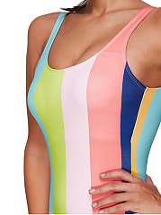 Lightweight  Vertical Striped One Piece For Women