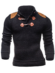 High-Neck-Decorative-Patch-Men-Sweater