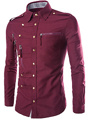 Trendy Zips Plain Men Shirt