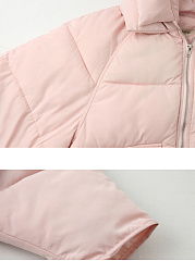 Hooded  Flap Pocket Zips  Plain  Long Sleeve Coats