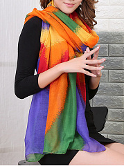 Rainbow Gradient Striped Scarves
