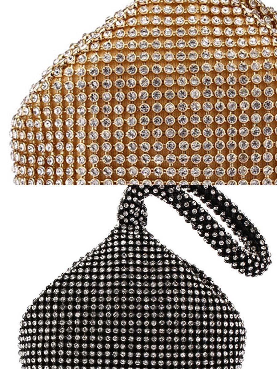 Rhinestone Pyramid Luxurious Hand Bag