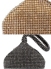Rhinestone Pyramid Luxurious Hand Bag