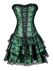 Sexy Gothic Victorian Punk Corset Dress Leather Party Waist Trainer