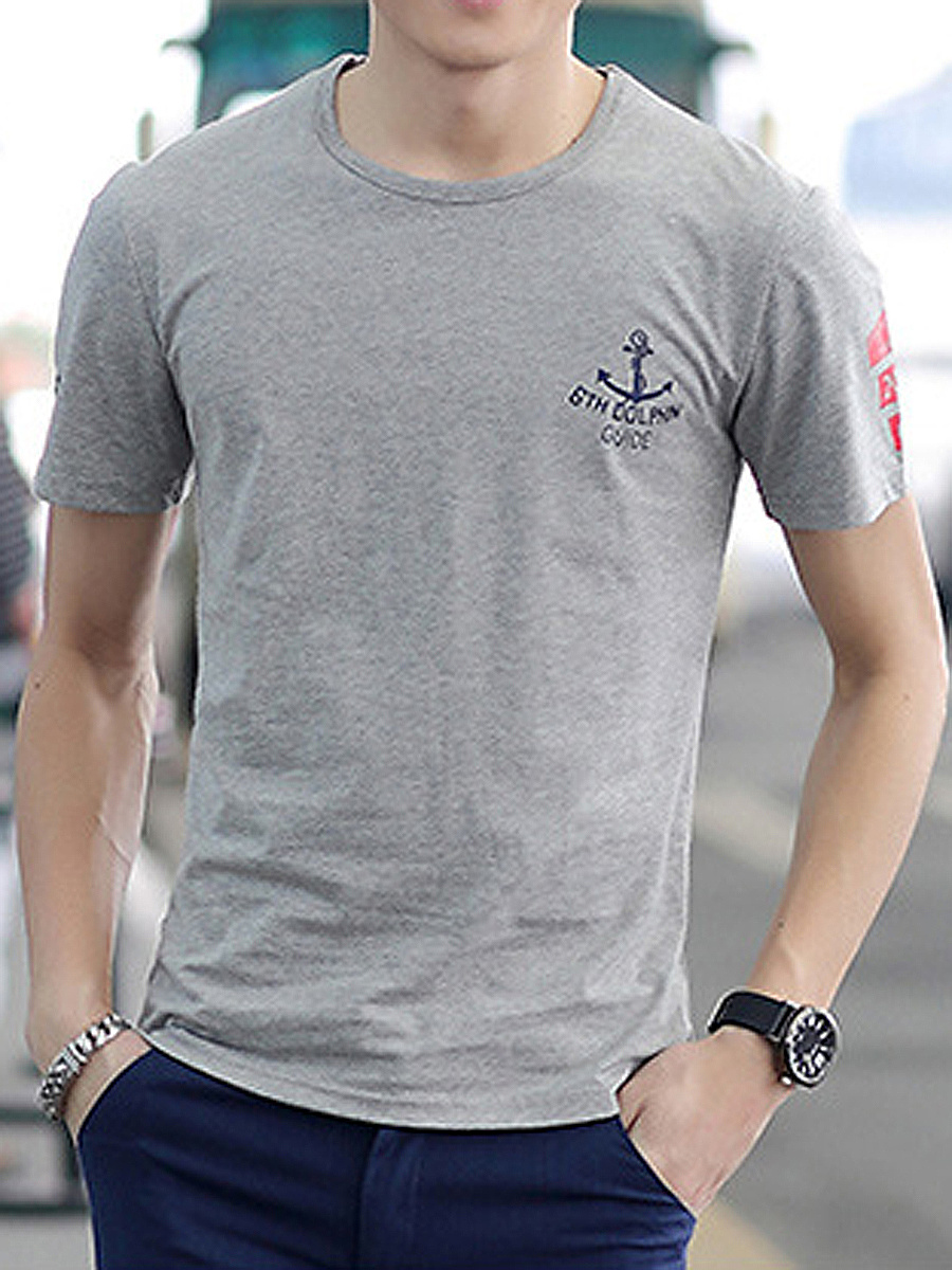 Casual Printed Men Round Neck T-Shirt