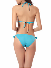 Enticing Solid Halter  Cutout  One Piece