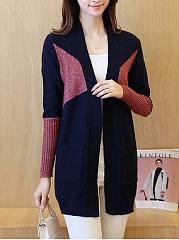 Color-Block-Knit-Cardigans
