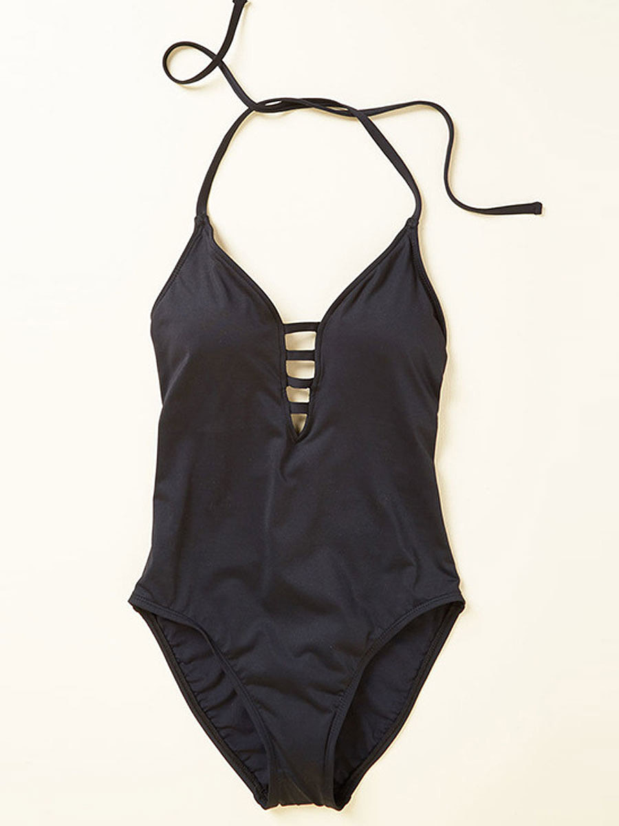 Sexy Bacless Plain One Piece For Women