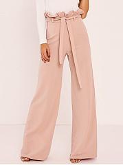 Plain-High-Rise-Belt-Wide-Leg-Pants