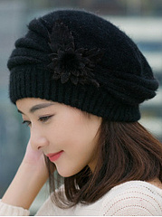 Lady Elegance Fashion Faux Fur Plain Tassel Decoration Polyamide Hats