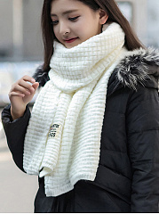 New Plain Soft Knitted Scarves
