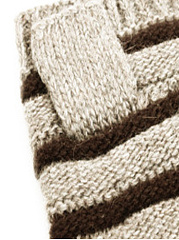 Winter Thick Warm Long Striped Knitted Gloves