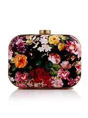 Floral Printed Two Way Box Clutch