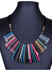 Tribal Colorful Acrylic Necklace