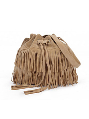 Tassel Bucket Shoulder Bag