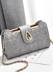 Chic Plain Crossbody Bag