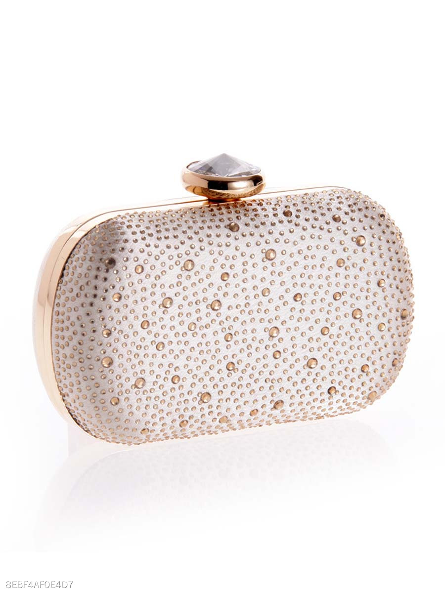 Water Drop Rhinestone Evening Clutch Bag