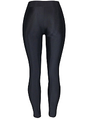 Sexy Lace-Up Hollow Out Plain Legging