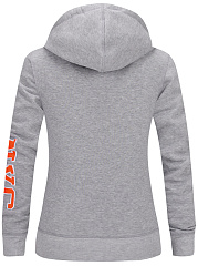 Stylish Patch Pocket Letters Printed Hoodie